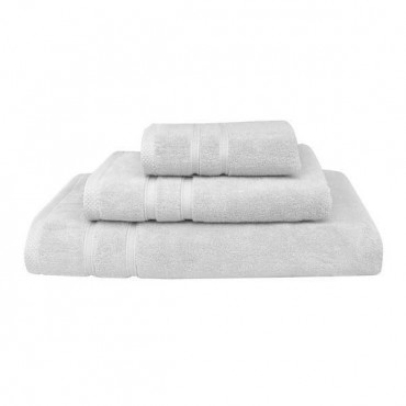 Set prosoape baie Exclusivity Collection, Alb, 100% bumbac
